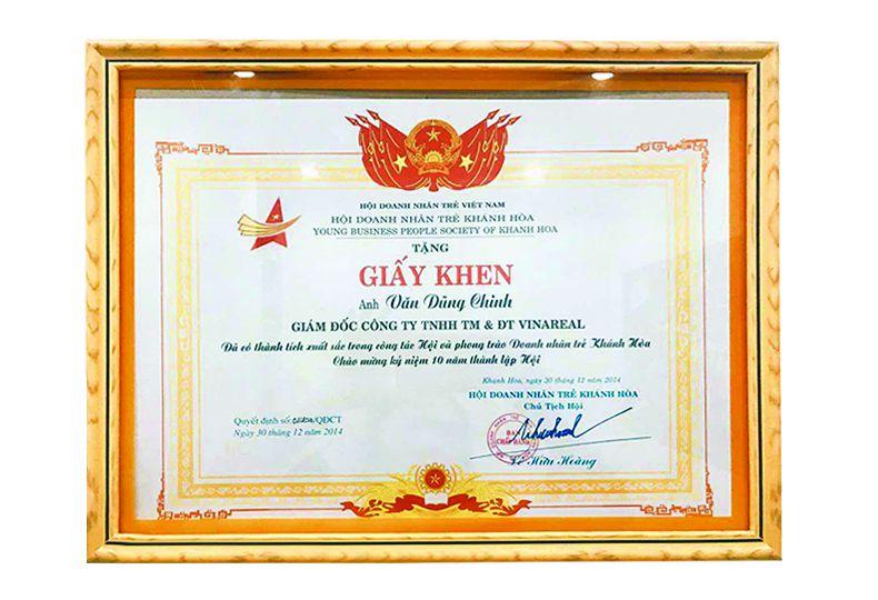 CTY TNHH TM & ĐT VINAREAL có thành tích xuất sắc trong công tác hội DNT Khánh Hoà
